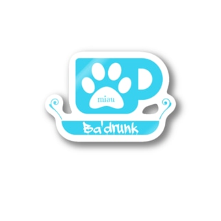 Ba'drunk for Boys ロゴ Stickers