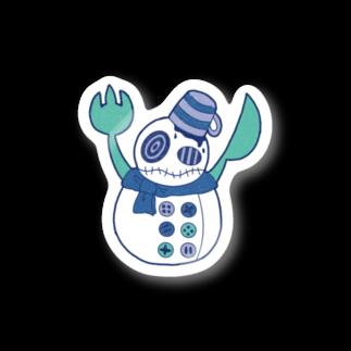 (に)・ω・(れ)の雪だるまシェフ カラーver. Stickers