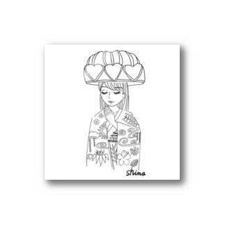琉装マリアステッカー Stickers
