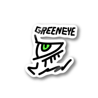 GREEN EYE Stickers