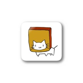 カステラに顔を突っ込む猫 Stickers