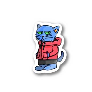 パーカー猫 Stickers