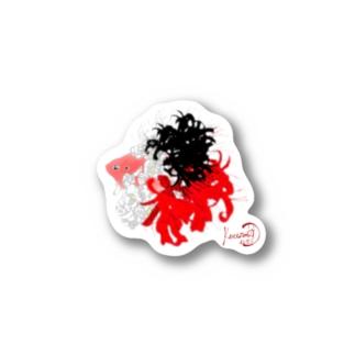 金魚-和花 Stickers