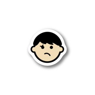 haruの納得いかないの顔ステッカー Stickers