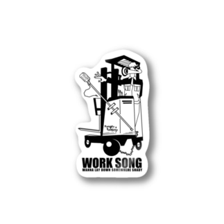WORK SONG -black- Stickers
