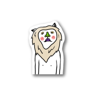三毛ヒゲ☬ヴォエ絵ヲ描ク者のヴォエホワイトライオン Stickers