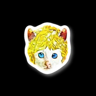 Rock catのチビCAT BOY Stickers