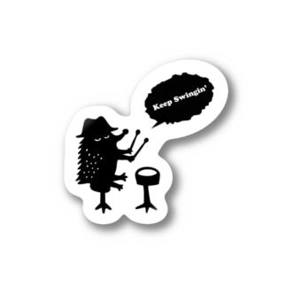 ハリネズミドラマー Stickers
