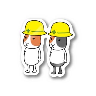 ペアルックヘルメットモルモット Stickers