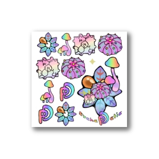 PsycheDelic ホワイト Stickers