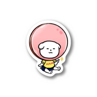 ぶるまをはくいぬのぶるまをはくいぬ:ハム Stickers
