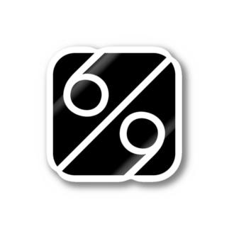 秘密結社 6/9(パーセント) ロゴグッズ Stickers