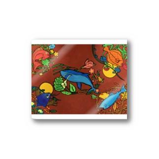 花蝶魚風月 Stickers