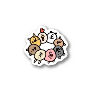 動物のポンデリング Stickers