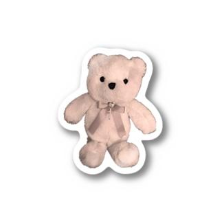 Dreamy Teddy Sepia Stickers