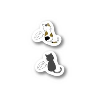 ねこ ねこ Stickers