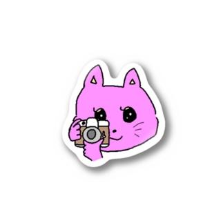 ねこカメラマン Stickers