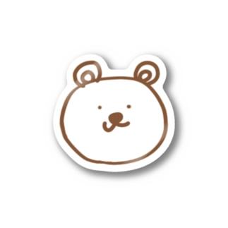 しろいやつのベアタロウ Stickers