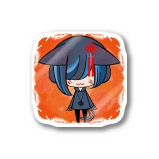 背景ありチビ唄う化け猫 Stickers