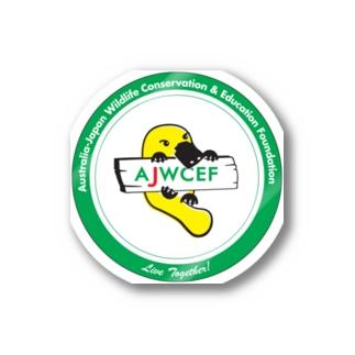 【丸カット】 AJWCEF オリジナル カモノハシステッカー 緑 Stickers