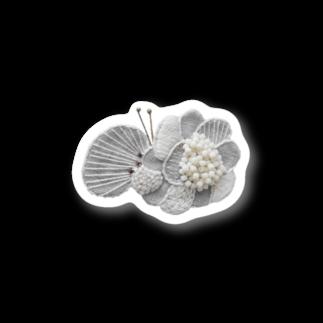 Lil tahti (リル タハティ)のhanabira choucho刺繍(オフ)1 Stickers