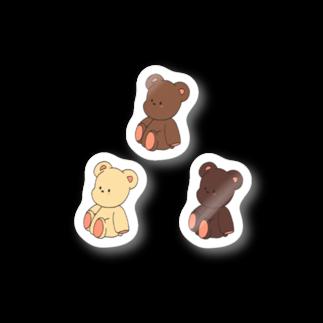 makiの3点ステッカー*ポテくま三つ子 Stickers