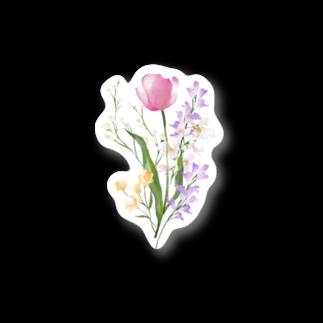 hugの花束ステッカー-Pink Stickers