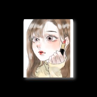 tamocchanのお化粧する子 Stickers