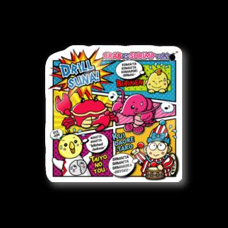 くまさん工房のカニvsエビ大阪編 Stickers