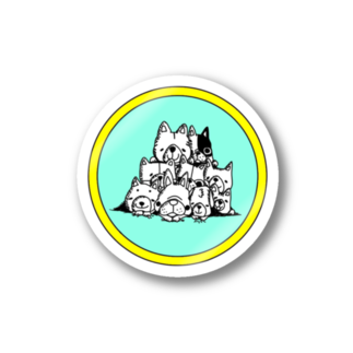 peacefulの重ね犬 Stickers