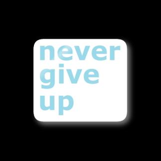 アメリカンベースのnever give up Stickers