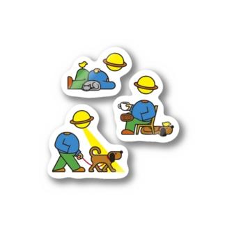 NUP, WALK, BREAK Stickers