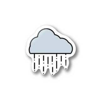 雨模様 Stickers