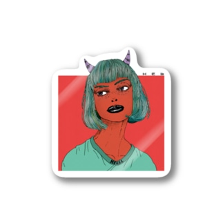 Devil Girl ステッカー Stickers