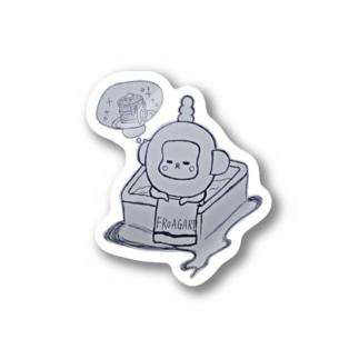 入浴中 ふろあがりちゃん Stickers