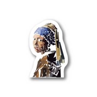 まるさんかくしかくのフェルメール Stickers
