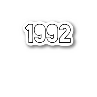 1992 sticker Stickers