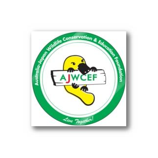 【四角カット】 AJWCEF オリジナル カモノハシステッカー 緑 Stickers