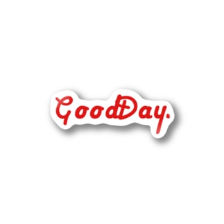 GoodDay. スッテカー RED Stickers