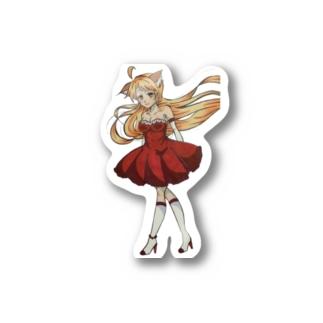けものの耳がはえた女の子 Stickers