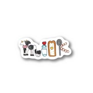 色んなmilk頂き方 Stickers