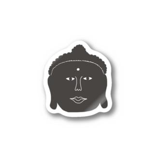 ajitukeの大仏さんのお顔 Stickers