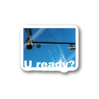 U ready? ヨコ Stickers