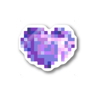 Pixel Heart BLUE BERRY Stickers