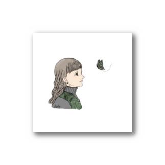 AitAnの緑の蝶 Stickers