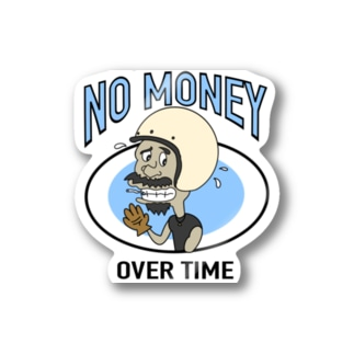 NO MANEY_OVER  TIME Stickers