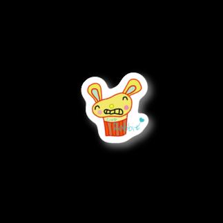 塩田貞治(시오다 사다하루)のCup Rabbit Stickers
