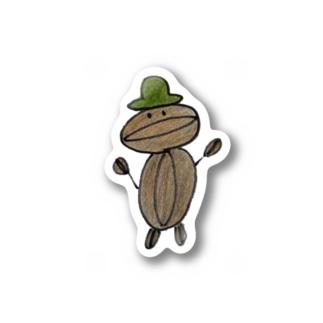 コーヒーマメヲ Stickers