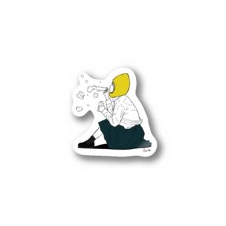 Lemon Girl B Stickers