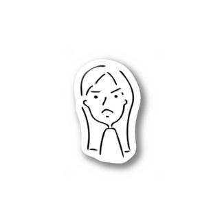 怒りさん Stickers
